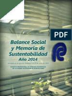 CPCECAB - Balance Social 2014