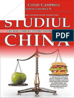 T Colin Campbell Studiul China