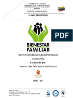 Plan de Emergencias ICBF Sede Dirección General.