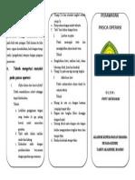 Leaflet Post Op