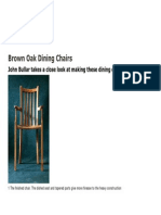 Brown Oak Dining Chairs