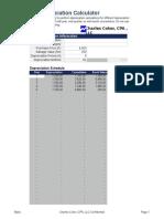 Coker Depreciation Calculator