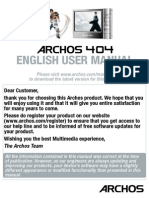Archos 404 User Manual