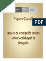 Proyecto Huaycán de Cieneguilla