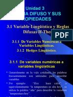 Variable Lingüística y Reglas Difusas if-Then