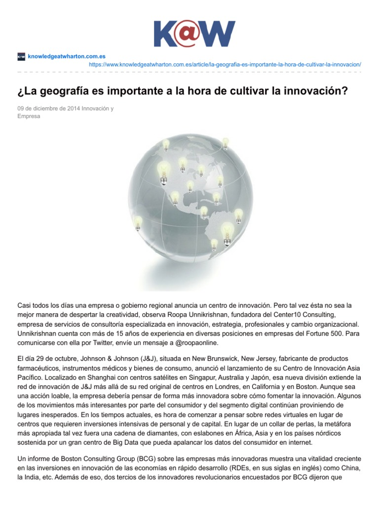 geografía innovación