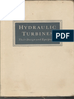 Hydraulic Turbines-Their Design and Equipment - Nechleba