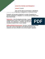 informal assessment for similes and metaphors