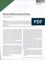 Business Model in Practice