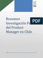 Resumen Investigación Perfil  Product Manager