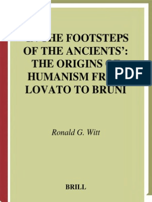 Ronald G  Witt - In the Footsteps of the Ancients_ the