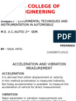 Acceleration and Vibration