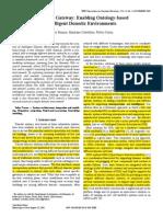 The DOG Gateway Enabling Ontology-based Intelligent Domotic Environments