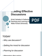 Leading Effective Discussions