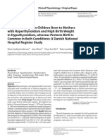low birth weight in children born to mothers with hyperthiroidism