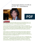 Did Tamara Kunanayagam Destroy Records on Sri Lanka in the UN - S. v. Kirubaharan