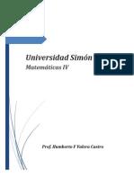 Material de Matemáticas IV (Mat IV 2013) de la USB del profesor Humberto F. Valera Castro