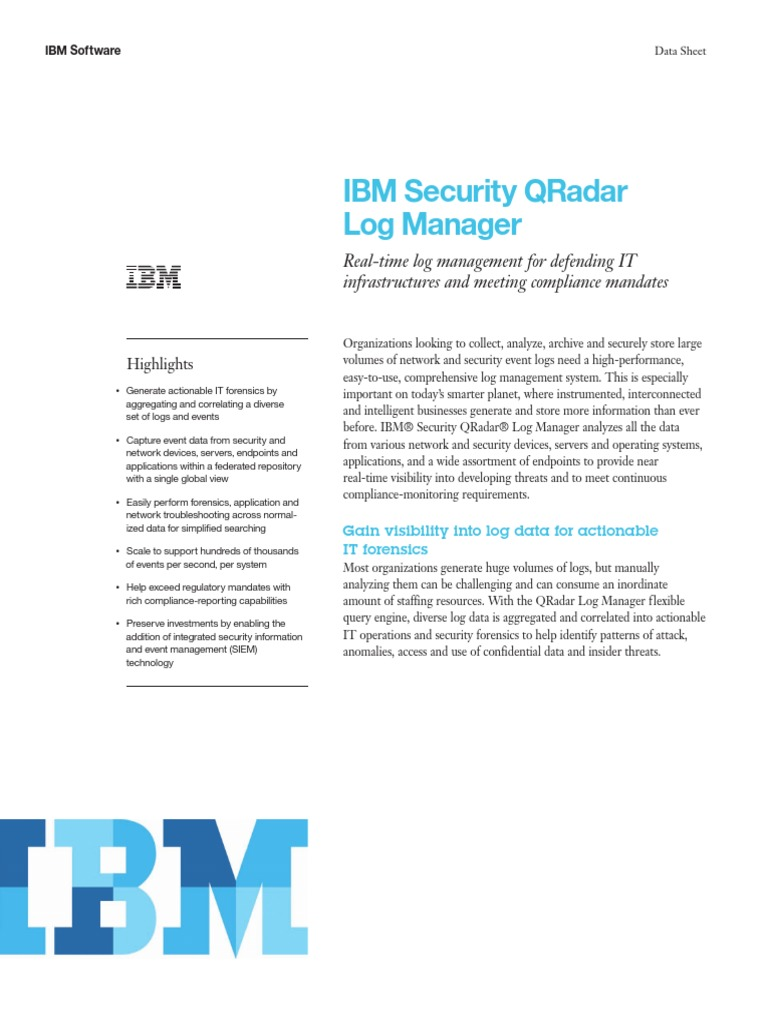 IBM Security QRadar Log Managerxxx | Ibm | Computer Network