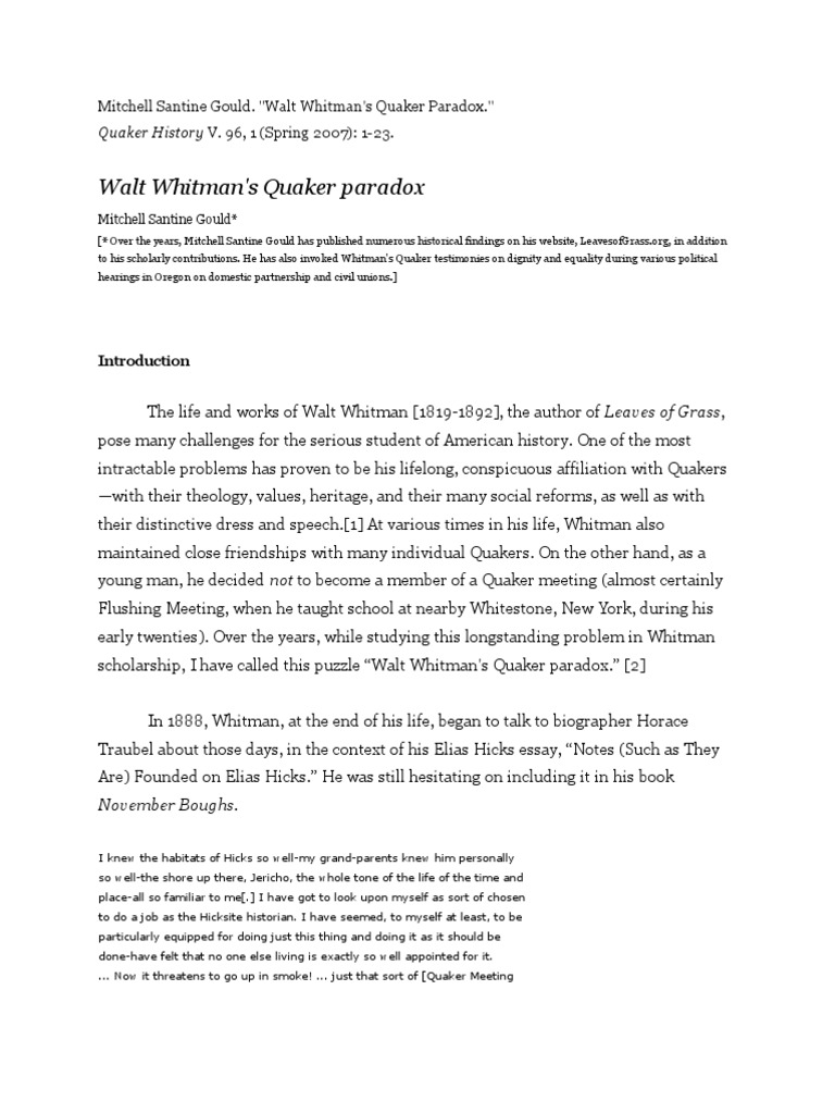 walt whitmans life in words essay Essays related to walt whitman biography 1  james russell lowell, and walt whitman (edwin h, 288)  word count: 813  the life of oscar wilde.