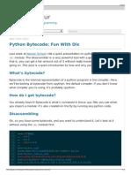 Python Bytecode- Fun With Dis - Allison Kaptur