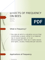 Effects of Frequency on Bees