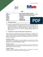 140219 MBA G - Macroeconomía y Política Económica