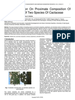 Effect of Season on Proximate Composition of Cladode Juice of Two Species of Cactaceae