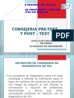 Consejeria Pre-test y Post Test