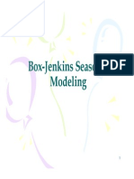 Box Jenkins Methodology