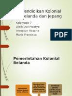 Pendidikan Kolonial Belanda Dan Jepang