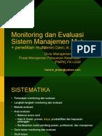 Monitoring Dan Evaluasi Mutu (Hanevi Djasri)