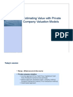 CNC9_Private Company Valuation Models (Noted)