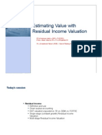 CNC7_Residual Income Valuation (Noted)