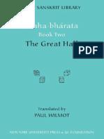 Mahabharata, Book 2 [Trans. Wilmot] (NYU, 2006)