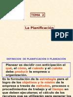 TEMA 2 - La Planificación