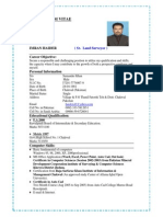Curriculum Vitae Imran Land Surveyor