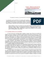 Crisis y Reinvención de La Ciudad Contemporánea. Castells