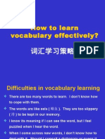 How to Learn Vocabulary Effectively