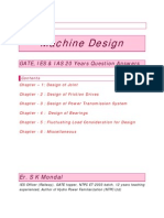 Machine Design  IES GATE IAS 20 Years Question and Answers By S K Mondal.pdf