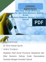 Jurnal anestesi