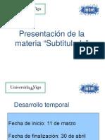 Presentación Subtitulado