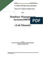 Dbms LabManual 14-15