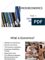Topic 1 Intro to Economics