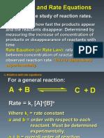 Kinetics, Rate Equations, Rds