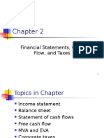 Financial Statements, Cash Flow and Taxes