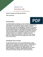 Brasil e Mundo Na Irada Do Século