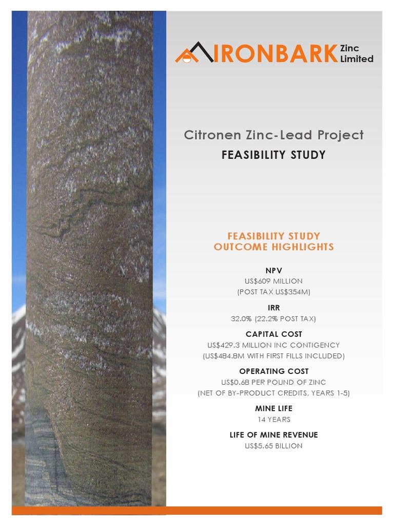 Citronen-Feasibility-Study pdf | Glencore | Mining