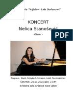 Nelica Stanoćević - plakat za koncert