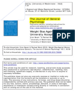 Weight Bias Against Women in a University Acceptance Scenario_Viren_(2013)