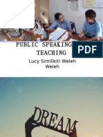 Public Speaking for Teaching